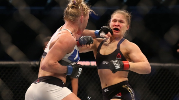 Photo by Quinn Rooney/Getty Images http://washington.cbslocal.com/2015/11/15/holly-holm-stuns-ronda-rousey-with-2nd-round-knockout/